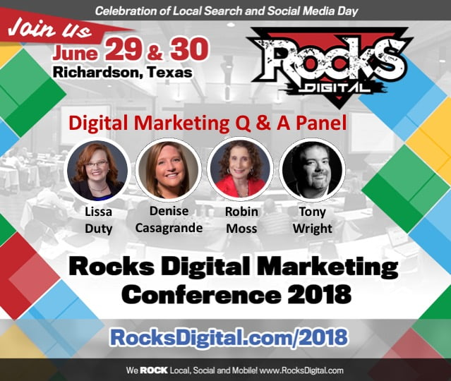 Rocks Digital Marketing Q & A Panel 2018
