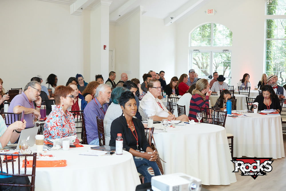Attendees at a Local Search Day speaker presentation